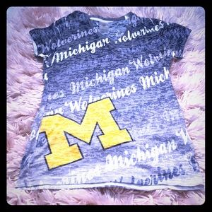 Michigan Wolverines Russell Short Sleeve Tee